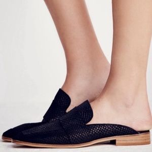 "Free People | ""At Ease"" Black Mules"